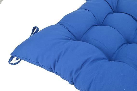 Amazon.com: elfjoy sólido cuadrado Tufted silla almohadillas ...