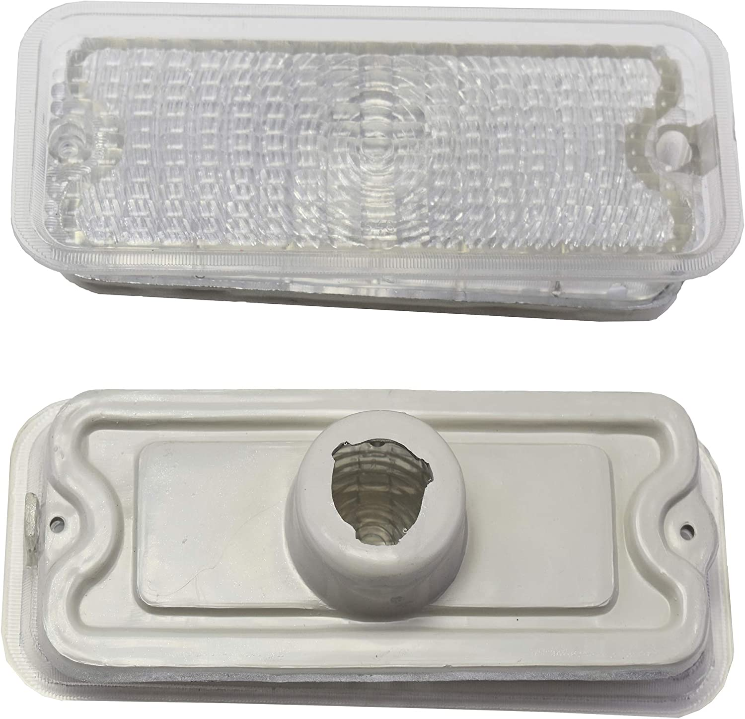 A-Team Performance C10 Park Light Lens Housing Compatible with GM 73 74 75 76 77 78 79 80 GMC Chevrolet Chevy Truck CLEAR