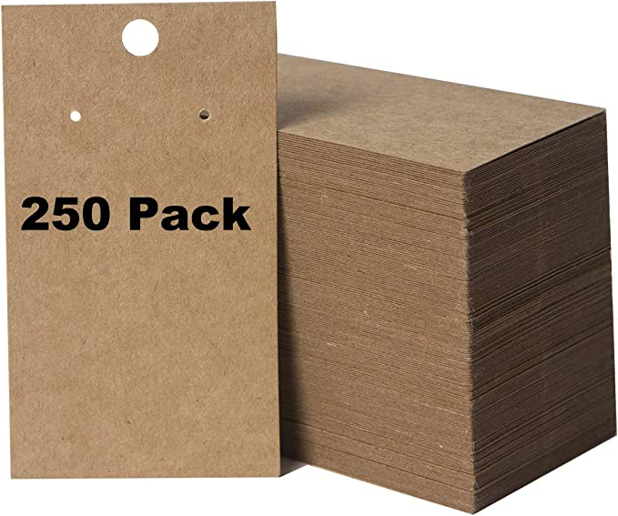 - 2.5x3.5 white chipboard jewelry product displays 2.5\u201d x 3.5\u201d packaging supplies 250 bulk quantity blank DIY cards Earring Cards