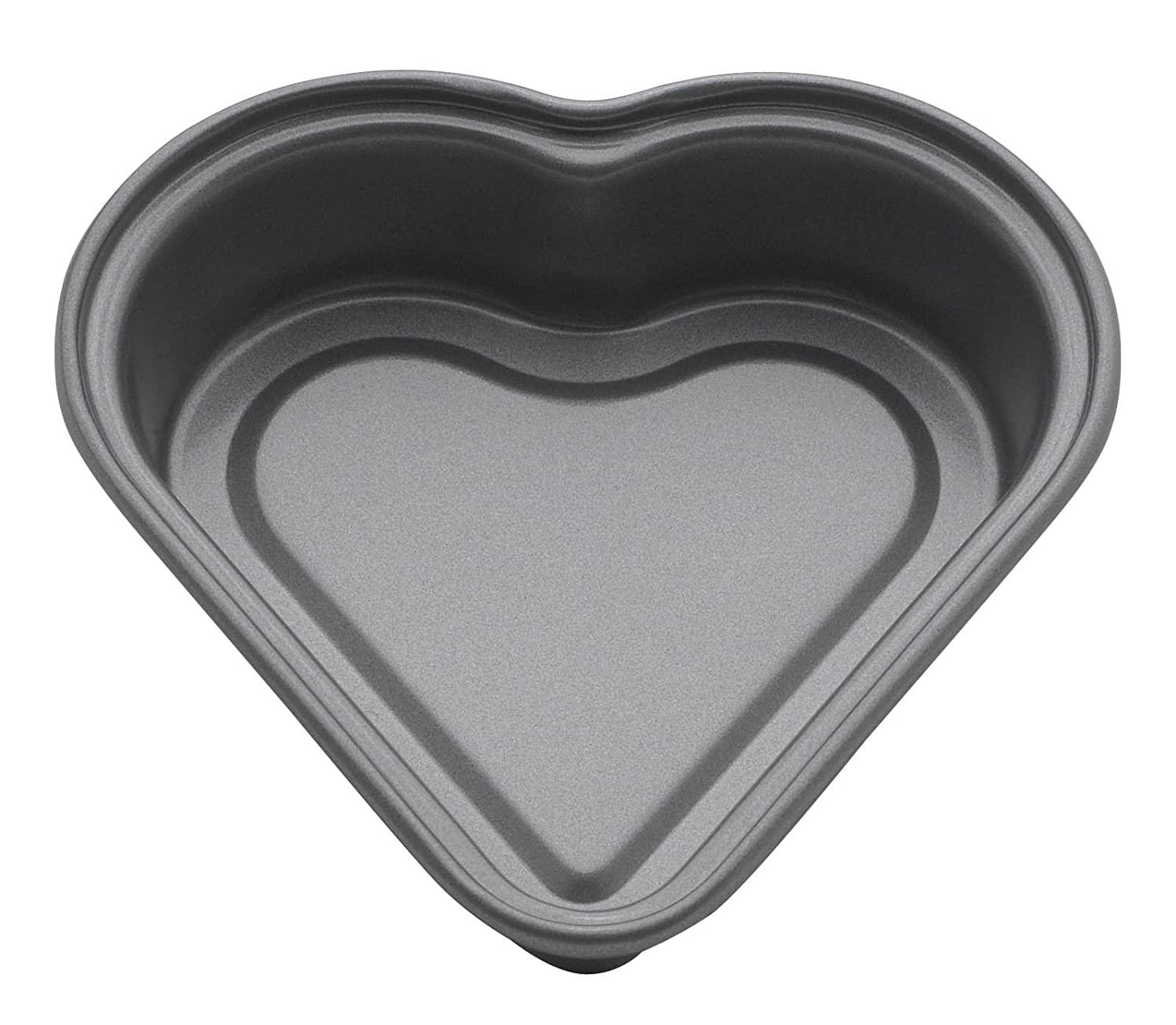 Mrs. Anderson's Baking 43712 Mini Heart Cake Pan, Carbon Steel with Quick-Release Non-Stick Coating