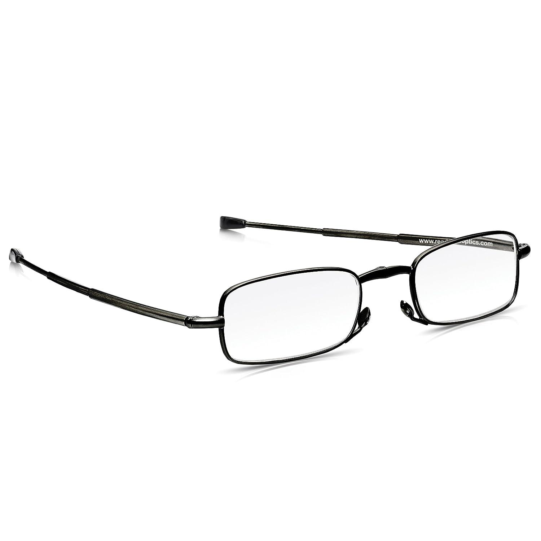 Lenti Scure Rayguard/™ Anti-Riflesso Read Optics Occhiali Pieghevoli Uomo//Donna: da Sole per Lettura Vista Graduati da +1.5 a +2.5 per Presbiopia con Custodia Rigida Tascabile Protezione 100/% UV