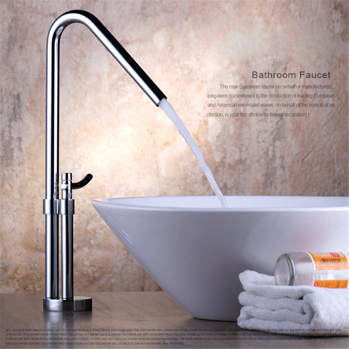 WY-Fashion High-End Faucet Heighten Bathroom Sink Faucet Above Counter Basin Faucet Basin Faucet Hot And Cold Faucet One Hole