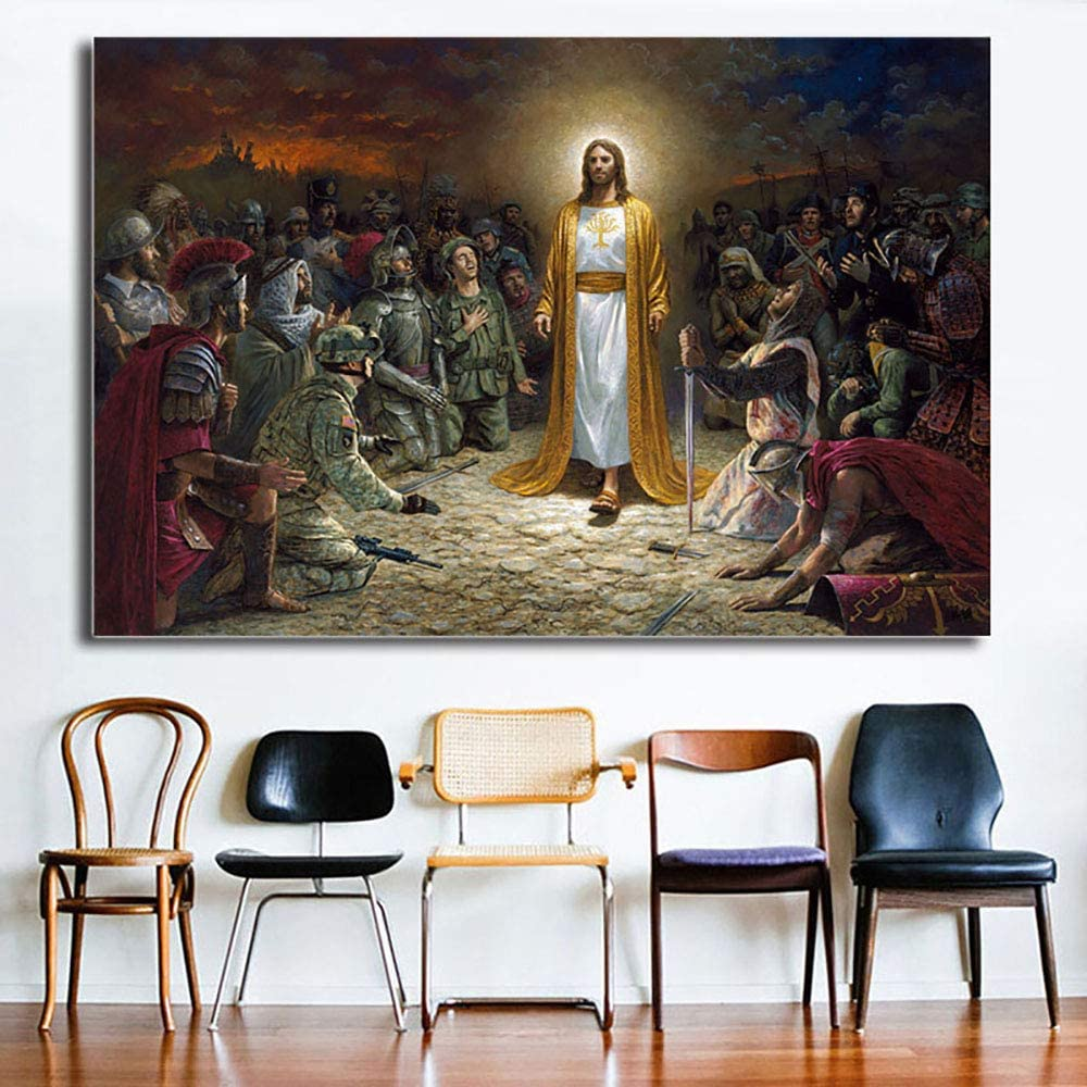 Jesus Savior Hand-painted Portrait oil painting wall art home decor 24x36inch
