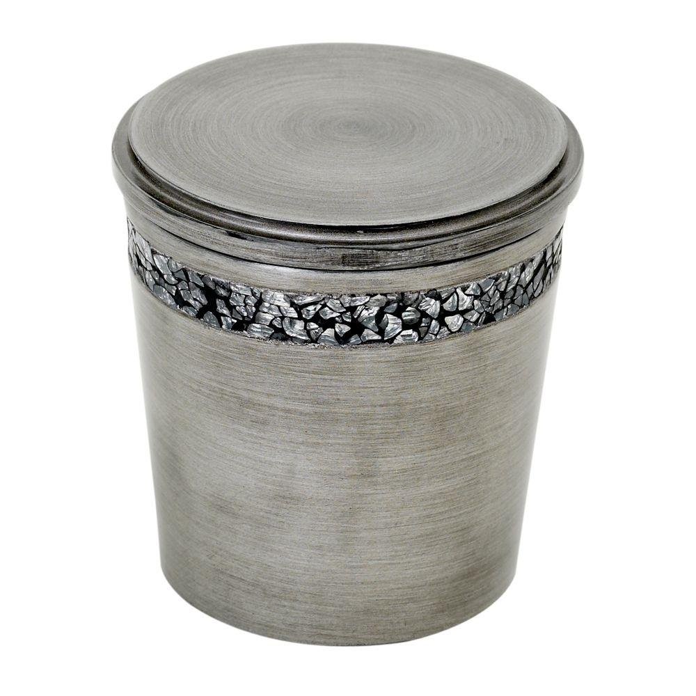 Zenna Home, India Ink Altair Cotton Ball Holder, Pewter