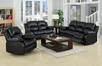 Awesome Valencia 3 Seater Settee Leather Recliner Sofas Black Download Free Architecture Designs Scobabritishbridgeorg