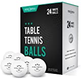 PRO SPIN Ping Pong Balls - White 3-Star 40+ Table Tennis Balls (Pack of 24) | High-Performance ABS Training Balls…