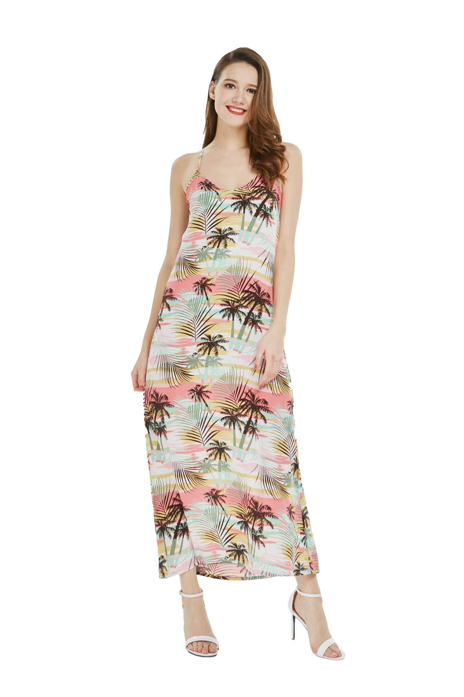 Matching Mother Son Hawaiian Luau Outfit Dress Shirt in Neon Sunset Women M Boy 4 by Hawaii Hangover (Image #2)