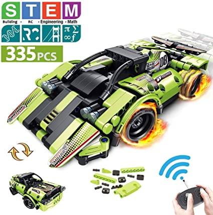 NANLAOHU STEM Racing Toy Robot Science Kits, Transformable Toy Racing Robot Building Blocks,for Kids Both Learning Programming and Having Fun (6 Boys and Girls)