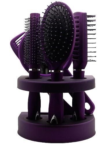 Los nuevos PC señoras unisex del espejo del cepillo de Hair Brush Comb mujeres viajan regalo del paquete de ampolla