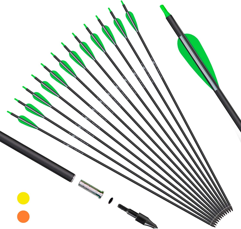 28/'/' 30/'/' Carbon Arrows Hunting Archery Recurve Compound Bow Target SP500 Arrow