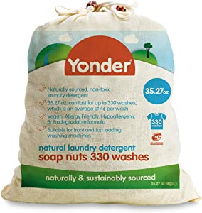 Yonder Laundry Soap Nuts/Berries | Hypoallergenic, 30 Washes 35.27 oz