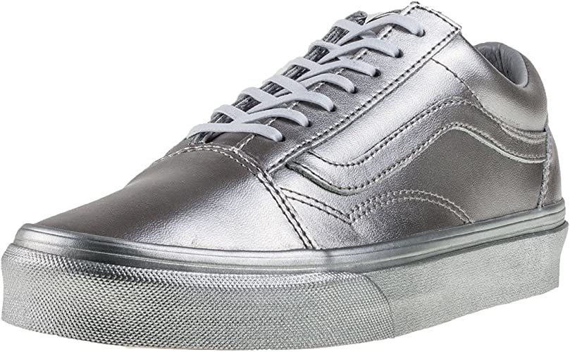 Italia Trainers Low Top Trainers Vans Old Skool Silver