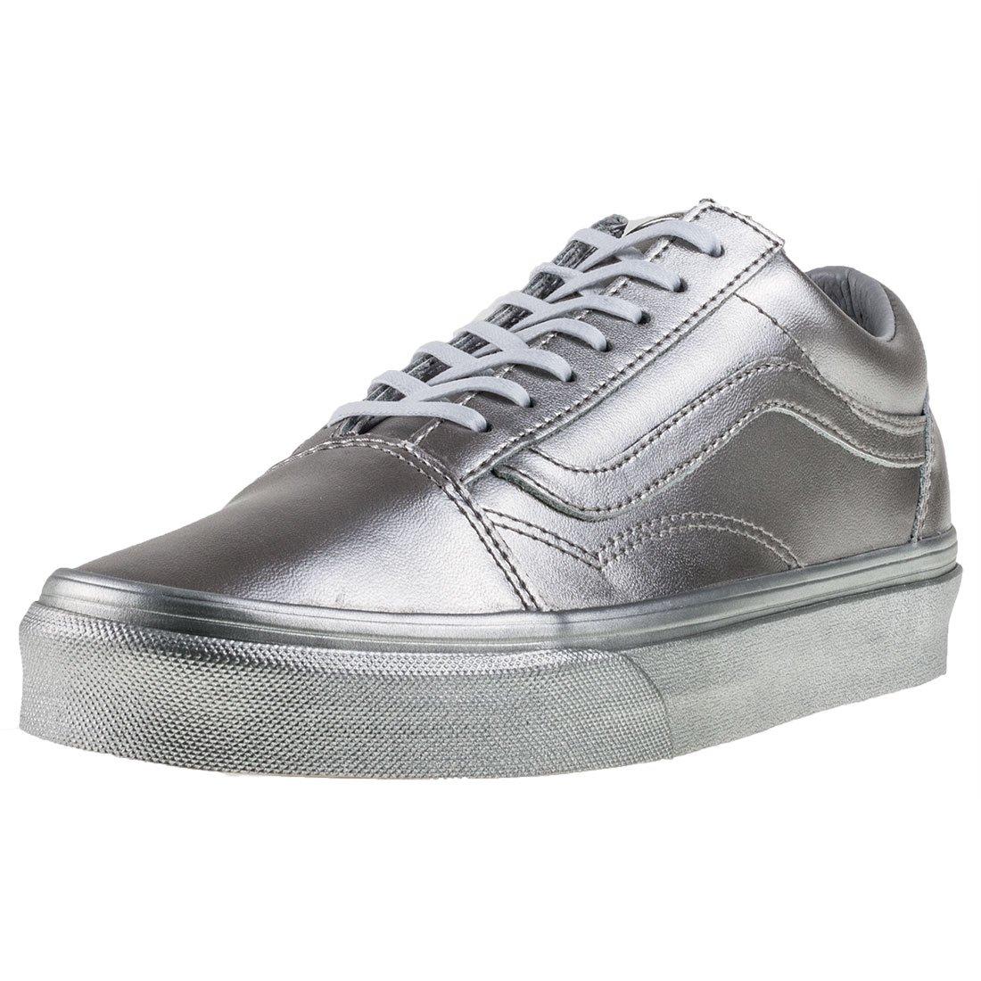 Vans Unisex Old Skool (Metallic Silver) Skate Shoe 5.5 D(M) US / 7 B(M) US|Silver