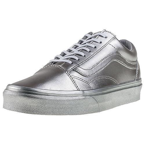 ba8436c4914049 Vans Unisex Old Skool (Metallic Silver) Skate Shoe  Amazon.ca  Shoes ...