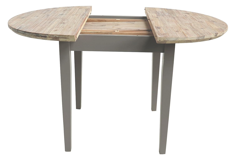 Amazon.de: Florence Runder Tisch, ausziehbar (92-117 cm) und schöne ...