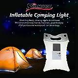 Solar Light, SOLMORE LED Inflatable Solar Lantern Lamp Camping Light Waterproof Outdoor Lamp for Trekking Travel Hiking Emergency Kit Garden Swimming Pool Decor