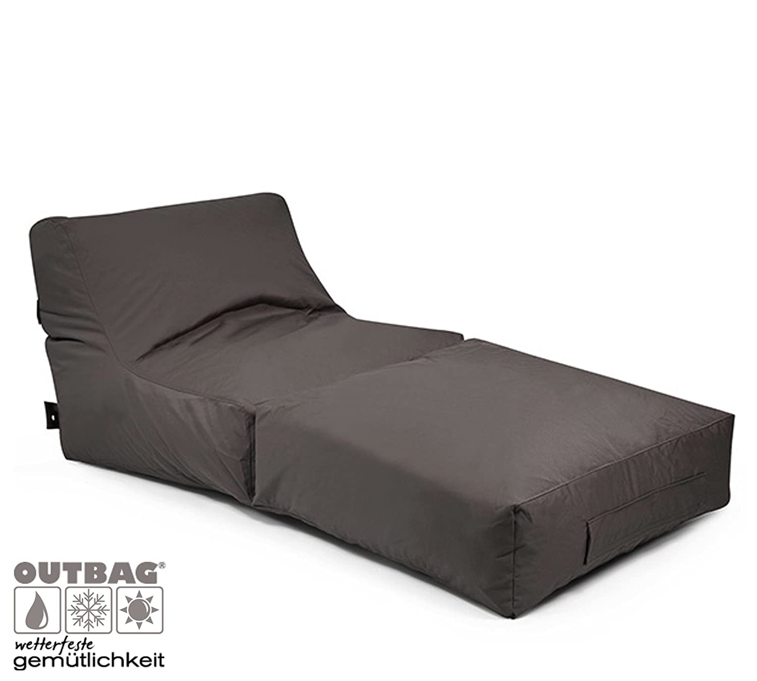 outbag outdoor sitzsack liege peak plus anthrazit online kaufen. Black Bedroom Furniture Sets. Home Design Ideas