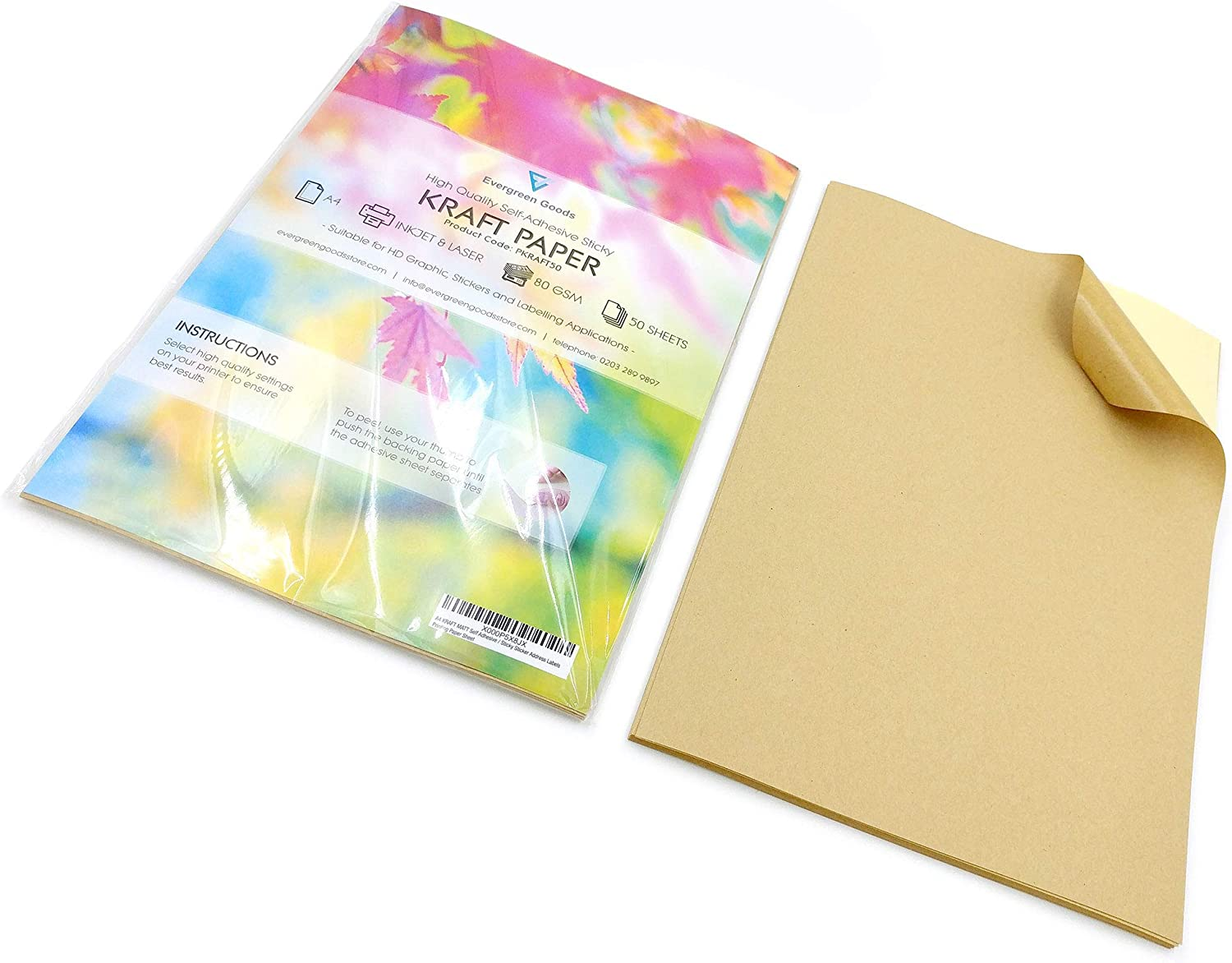 50 Sheets A4 Blank Labels Stickers Printer Sticky Self Adhesive Return Address
