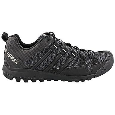 Men's Terrex Solo Shoes Dark Grey/Black/Charcoal Solid Grey 11 & Towel