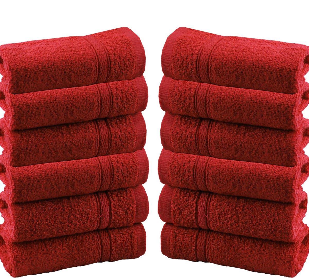 CASAbella New confezione da 12100% cotone viso panno panno asciugamani asciugamani 550GSM, Cotone, White, 12 Pieces Set