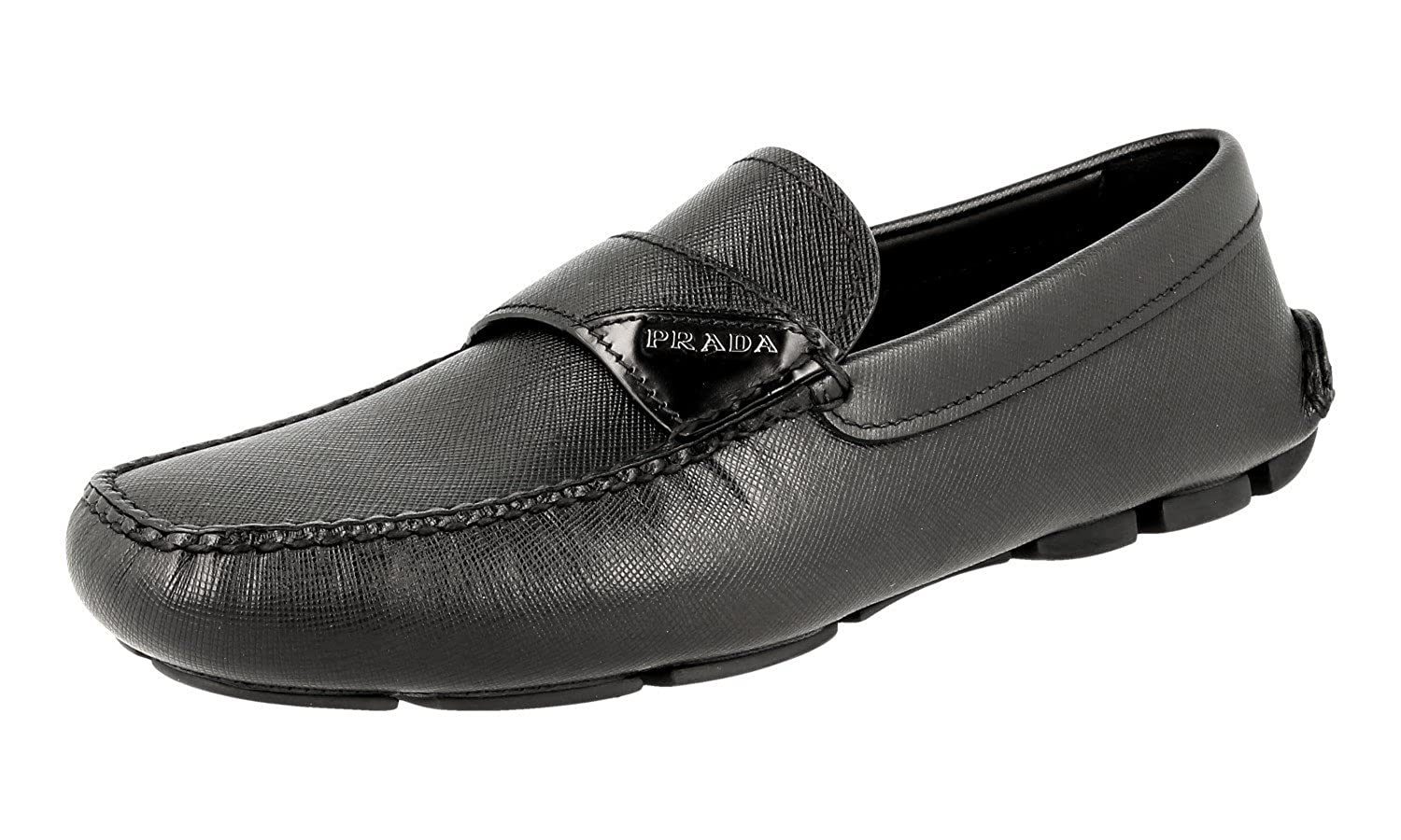 Men's 2DD125 MGV F0002 Saffiano Leather Loafers
