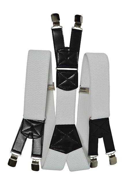 Bretelles XXL entièrement réglable Extra Fort avec 6 Clips, Tissu épais -  5cm. Blanc  Amazon.fr  Vêtements et accessoires 292e1788d458