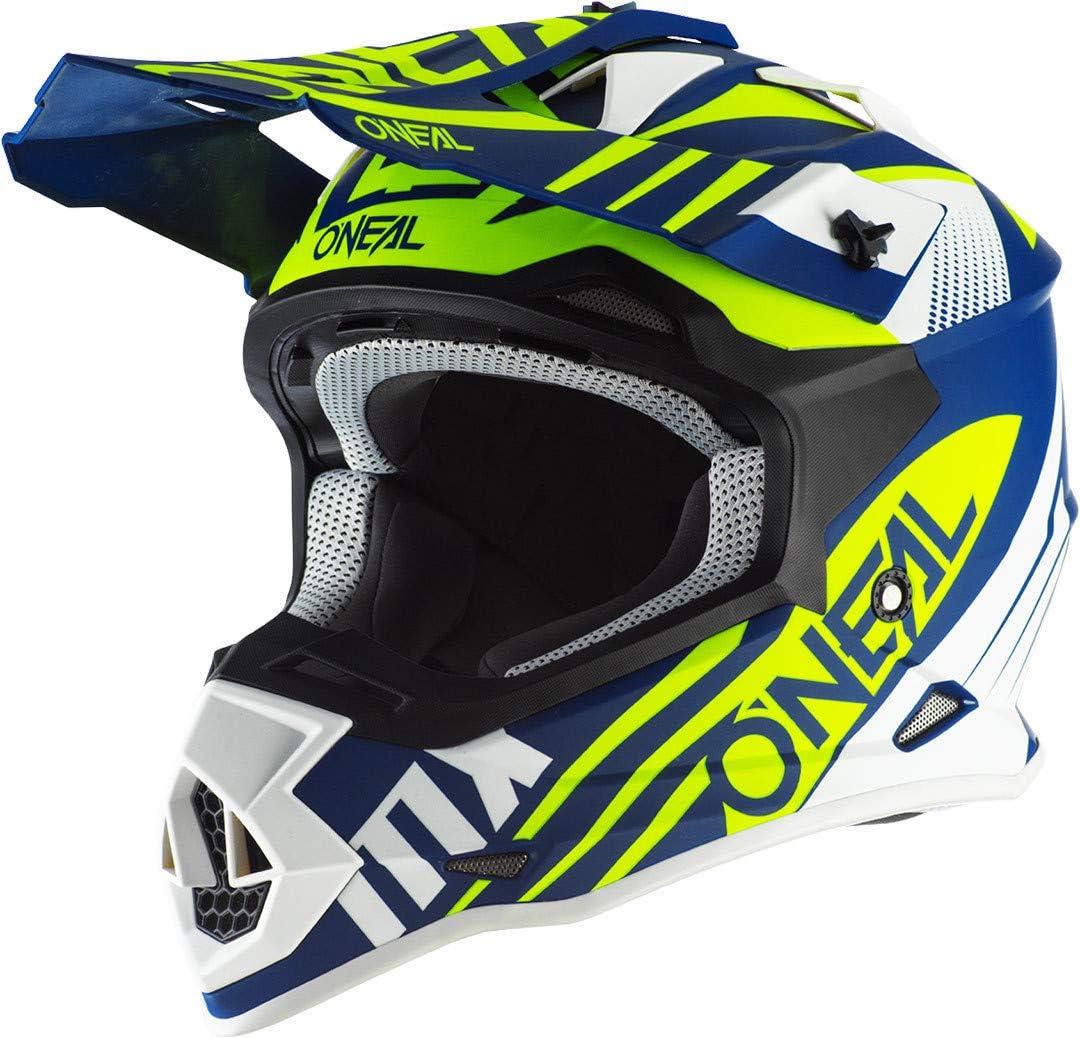 Oneal 2SRS Helmet SPYDE 2.0 Blue/White/Neon Yellow Casco