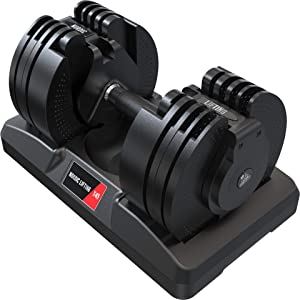 Adjustable Dumbbell 45lbs with Interchangeable Dial - Home Gym Space-Saver - X45 by Nordic Lifting