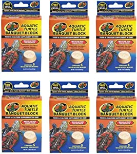 (6 Pack) Zoo Med Aquatic Turtle Banquet Blocks