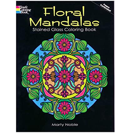 Amazon.com: Floral Mandalas Stained Glass Coloring Book - 32 ...