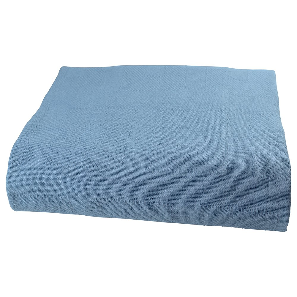 Sigmatex BK741084SGBL Healthcare Thermal Spread Blanket, Snag Free, 55% Cotton/45% Polyester, 74'' Width 108'' Length, 4.0 lb/ea., Blue, (12 ea)