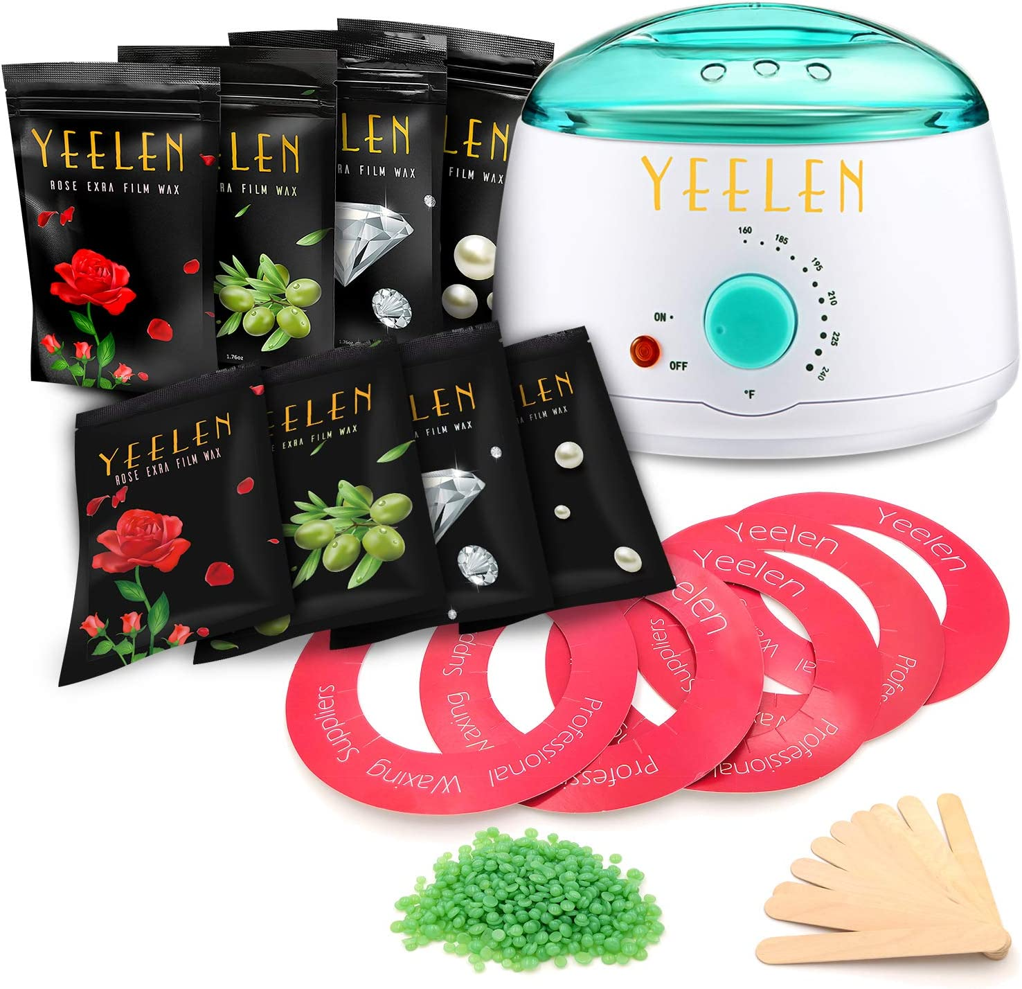Amazon Com Yeelen Wax Warmer Hair Removal Waxing Kit Wax Melts 8