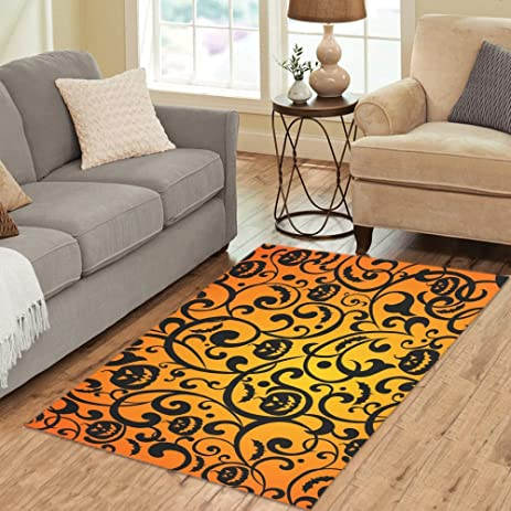 Amazon.com: InterestPrint Home Decoration Halloween Pumpkin Pattern