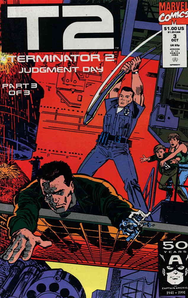Terminator 2: Judgment Day #3 VF/NM ; Marvel comic book