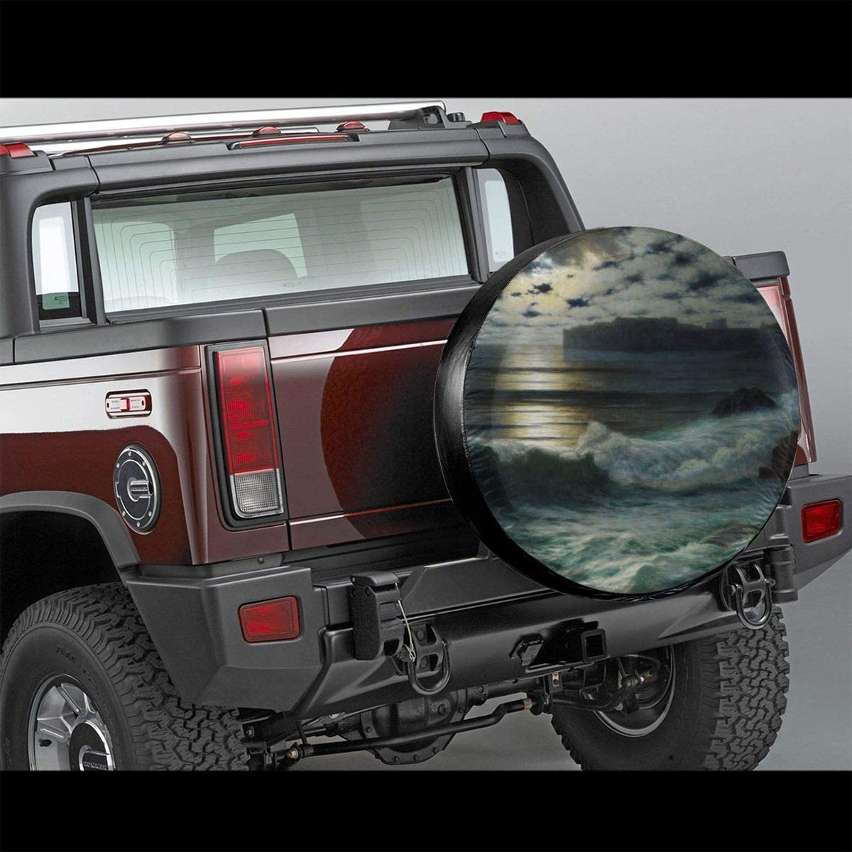 Xhayo Sea in The Dark Wheel Cover Wheelcover Spare Tyre Tire for SUV,RV,Trailer,Truck Wheel Fits Entire Wheel