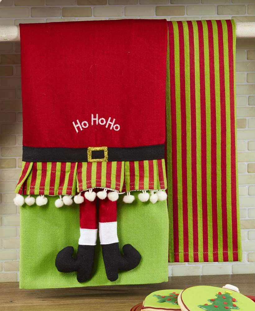 Elf The Lakeside Collection Set of 2 Novelty Kitchen Towels