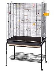 Ferplast Planeta Cage Oiseau avec Pied sur Roulette pour Oiseaux 97 x 58 x 173,5 cm