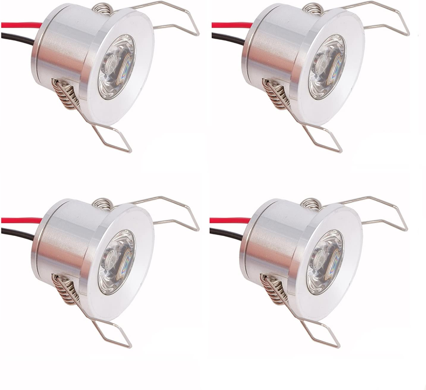 LED Ceiling Recessed Downlight Spotlight for Cabinet 1.5W 4000K Natural White Non-dimmable Mini Spot Lamp