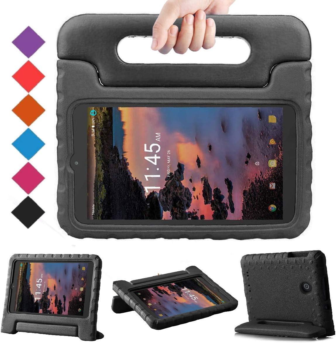 BMOUO Kids Case for Alcatel Joy Tab 8 2019/T-Mobile 3T 8 Tablet 2018/A30 Tablet 8 2017, Lightweight Kid-Proof Handle Stand Case for Alcatel Joy Tab 2019/Alcatel 3T 8 2018 / A30 8 inch 2017 - Black