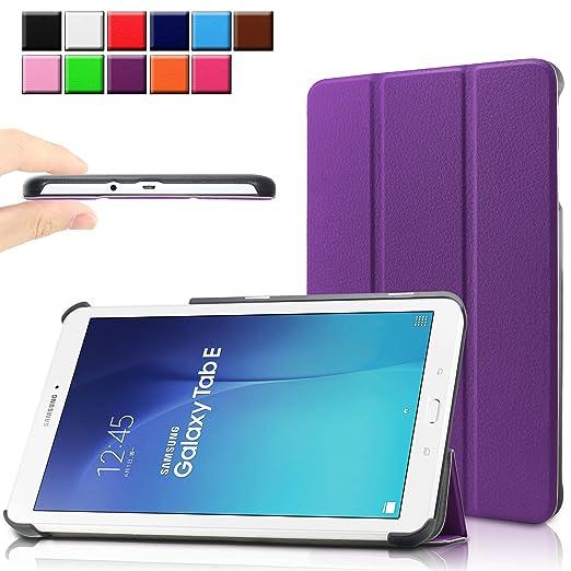 89 opinioni per Infiland Samsung Galaxy Tab E 9.6 Custodia Case- Slim Tri-Fold in pelle Smart