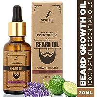 Spruce Shave Club Beard Oil For Beard Growth (30ml) -100% Natural - Bergamot & Lavender - Pure Essentail Oils