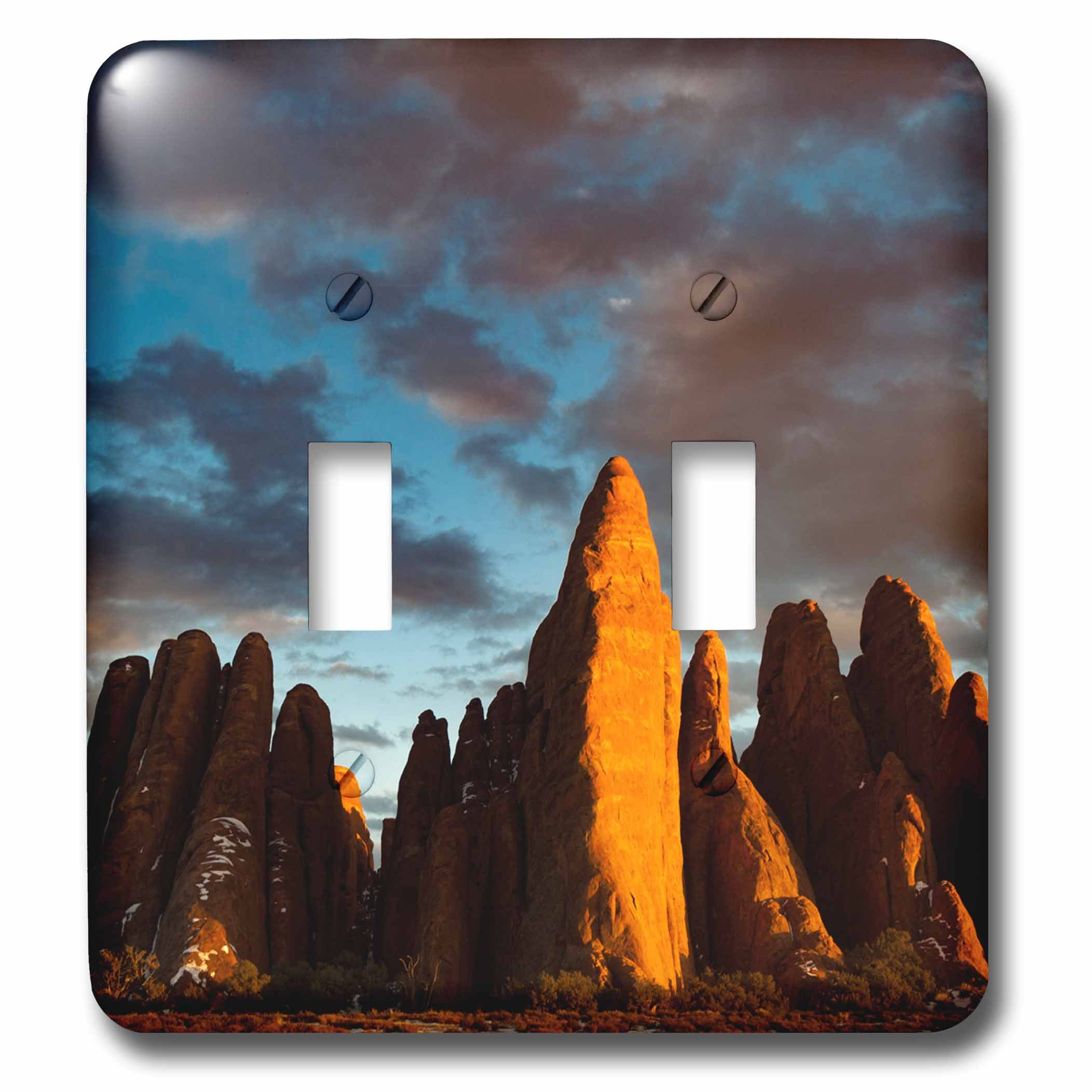 3dRose Danita Delimont - Utah - USA, Utah. Sandstone fins. - Light Switch Covers - double toggle switch (lsp_260336_2)