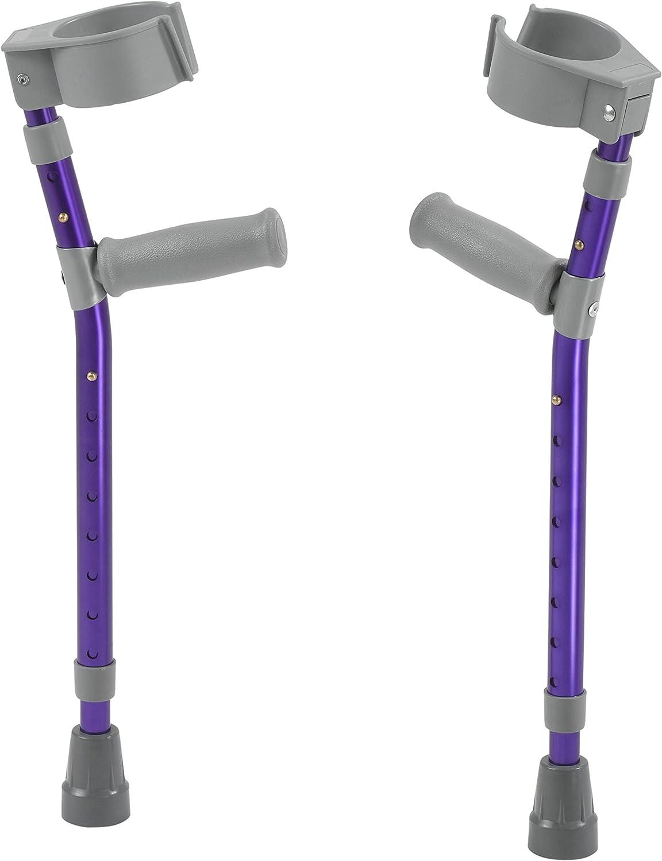 Inspired by Drive Pediatric Forearm Crutches, Wizard Purple, Small
