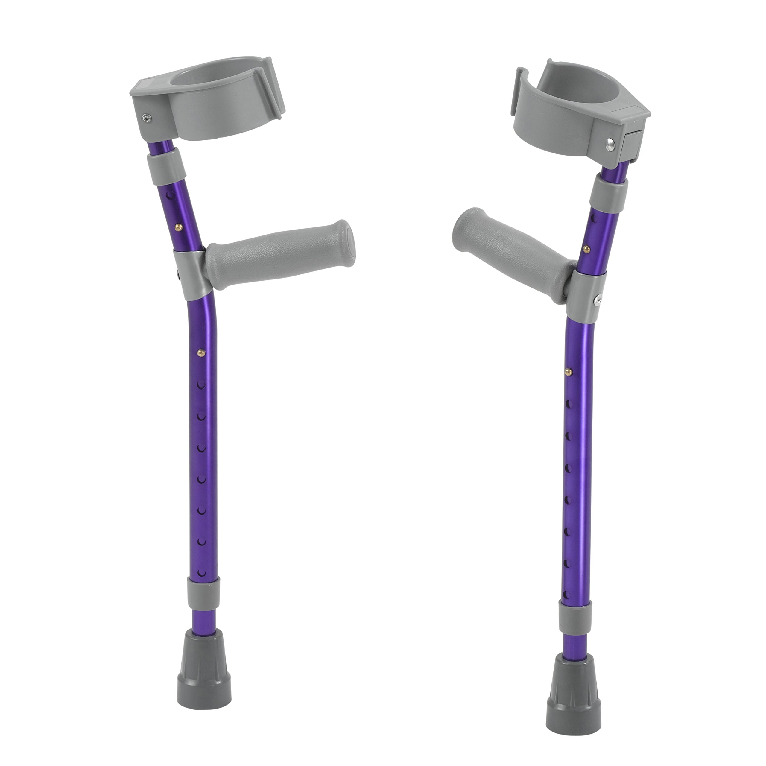 Inspired by Drive Pediatric Forearm Crutches, Wizard Purple, Small