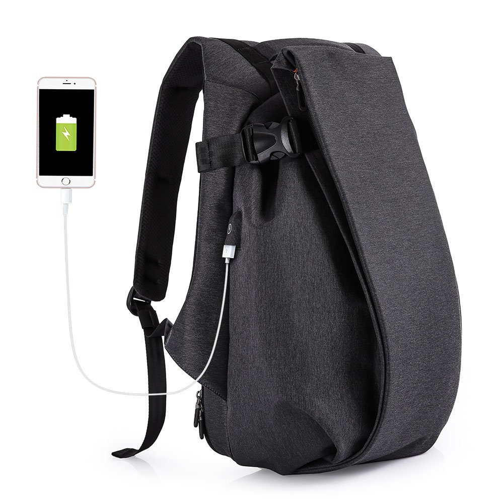 Tocode Laptop Backpack Anti Theft, 17.3 Casual Personality Backpack Travel Rucksack, with USB Charging Port, Waterproof Large Compartment Computer Daypack for Men School/Sport