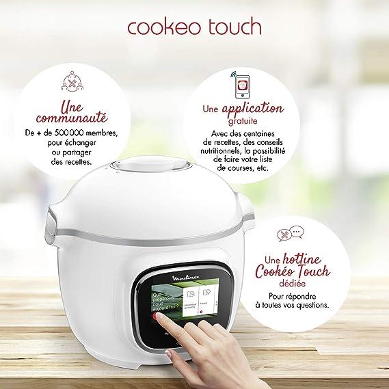 Moulinex Cookeo Touch - Olla inteligente de alta presión Táctil ...