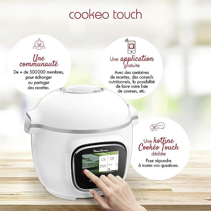 Moulinex Cookeo Touch - Olla inteligente de alta presión Táctil blanco: Amazon.es: Hogar