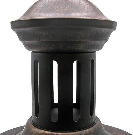 E27 40.00W 220.00V luminaria industrial con c/úpula r/ústica en cobre L/ámpara colgante de estilo Vintage cafeter/ías para loft comedor restaurantes sal/ón Frideko Mit Netz-deckel-33cm