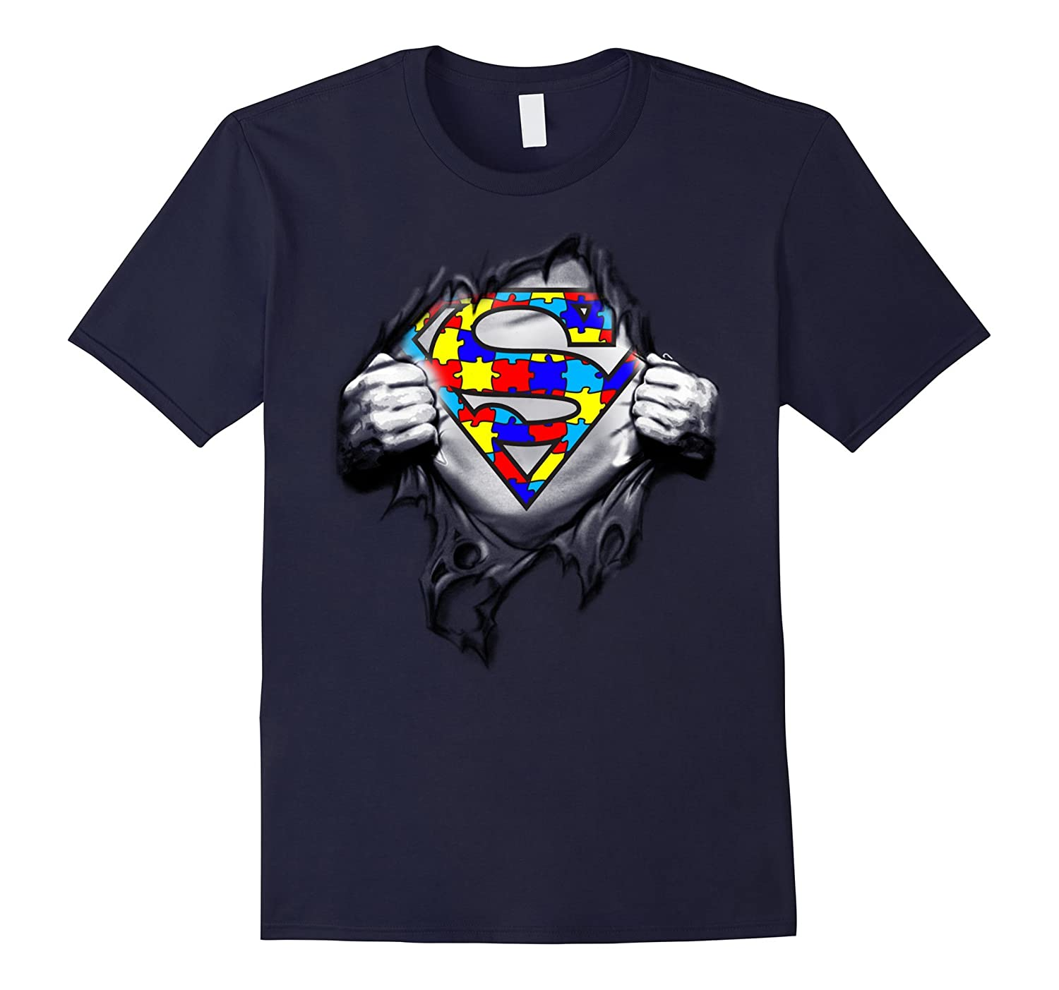 Autism Awareness Day Gifts Super Autism T-shirts color-Art