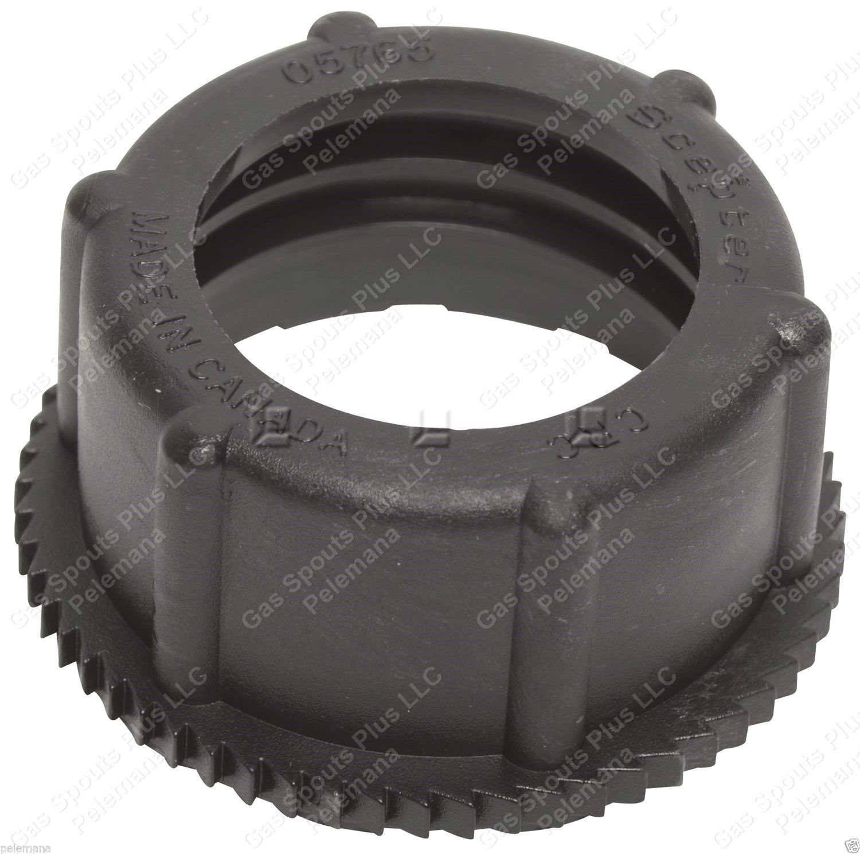 10 Genuine MIDWEST Gas Fuel Diesel Gallon BLACK SCREW CAP COLLARS 1200 2300 5600
